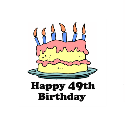 49th Birthday Is Cake Ideas And Designs Happy 31st Birthday Wishes
