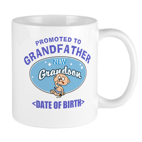 Personalized New Grandfather Grandson Mug