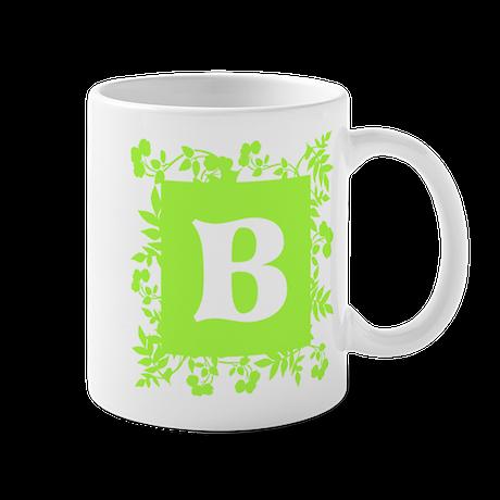Plants and Letter B. Mug