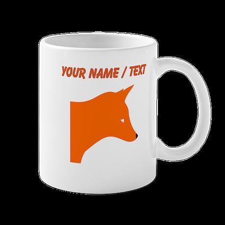 Custom Orange Fox Mugs