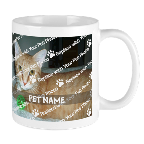 CUSTOMIZE Add Pet Photo And Name Mug - Right