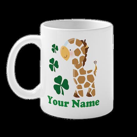 Personalized Irish Giraffe Mug