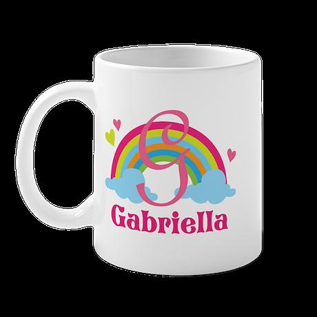 Personalized G Monogram Mugs