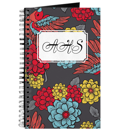 Personalized Bird/Floral Journal