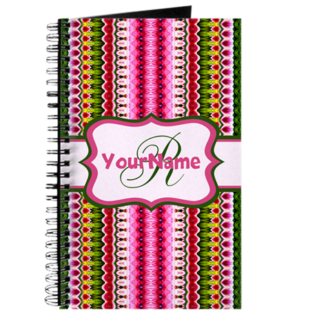 Aztec Pattern Personalized Monogram Journal