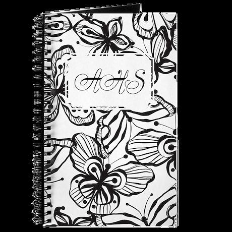 Black White Butterfly BW Journal