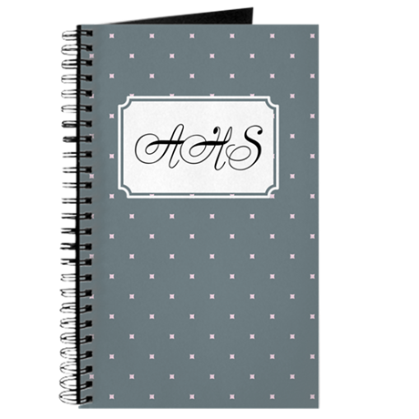 Dots Square Grey Journal