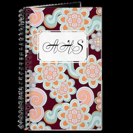 Flower Retro Brown Journal