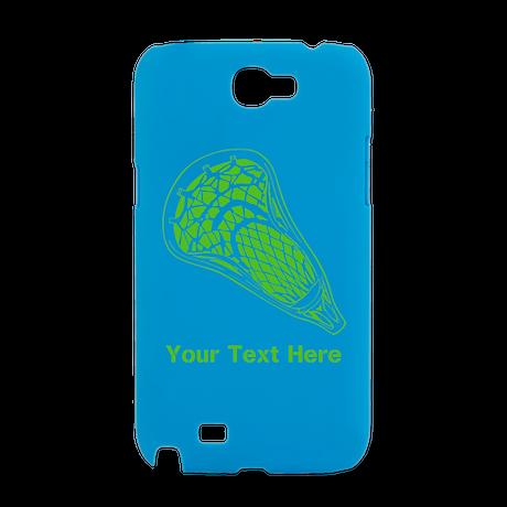 Lacrosse Crosse. Green Text. Galaxy Note 2 Case