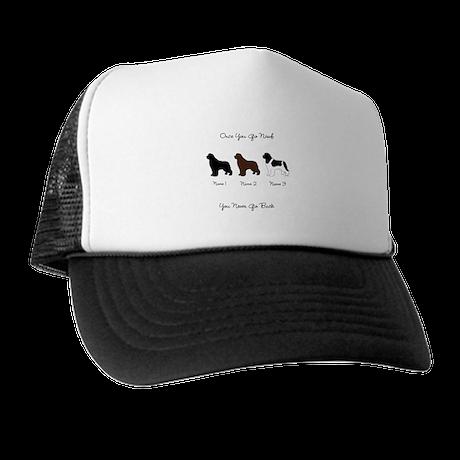 3 Newfs - Black, Brown, Landseer Trucker Hat