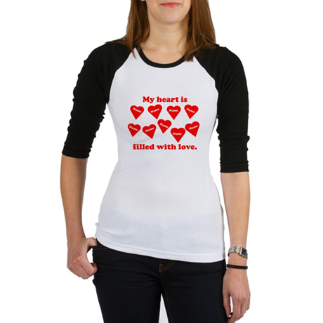 Personalized My Heart Filled Jr. Raglan