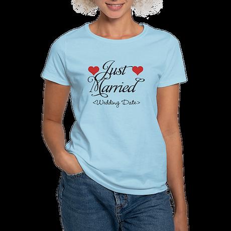Just Marrried (Add Wedding Date) Women's Light T-S