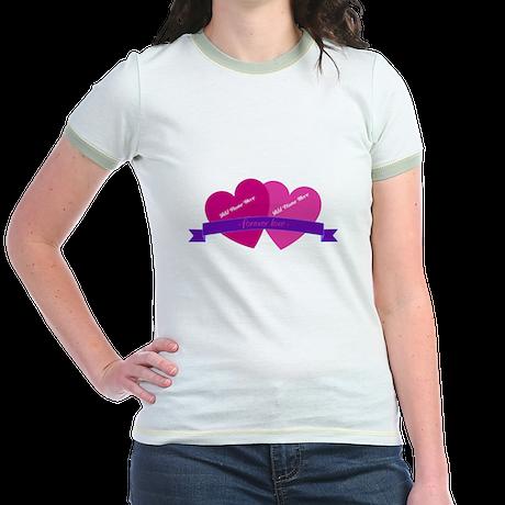 Forever Love Heart Names T-Shirt
