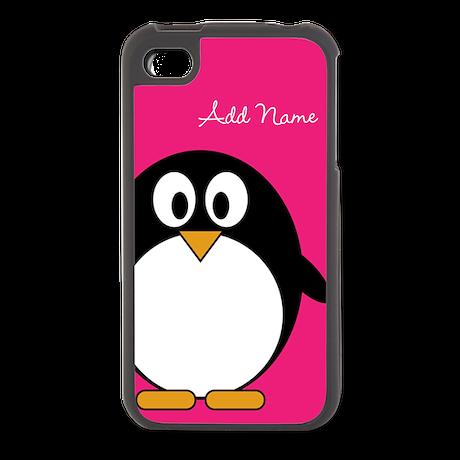 Cute Penguin Bright Pink Galaxy S3 Case