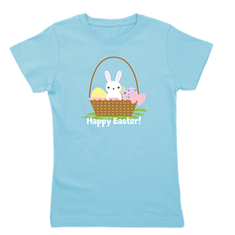 Cute Easter Bunny Girl's Tee