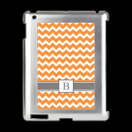 Orange Grey Chevron Monogram iPad Switch Case