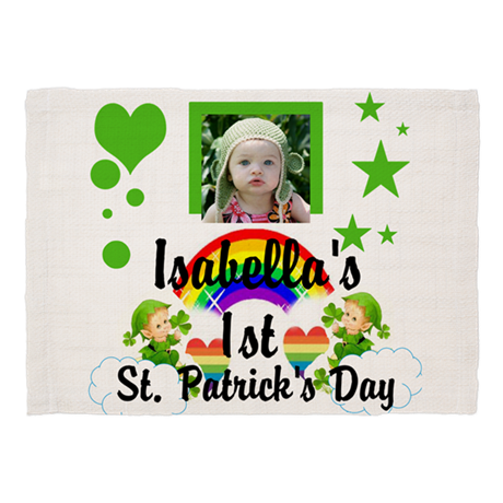 baby photo st patricks day dinner placemats by tartle