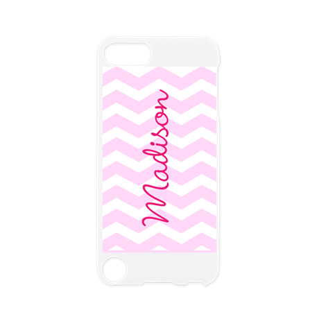 Customized name pink chevron iPod Touch 5 Case