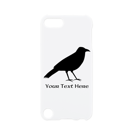 Crow and Custom Black Text. iPod Touch 5 Case