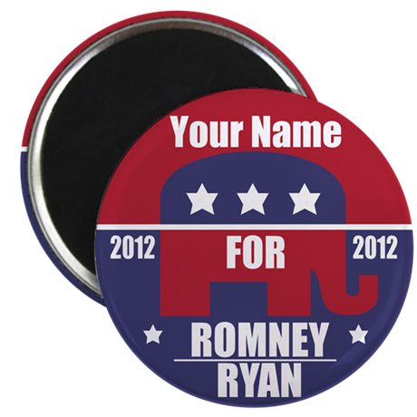 Your Name For Romney/Ryan Magnet