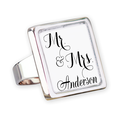 Mr. & Mrs. Personalized Monogrammed Ring
