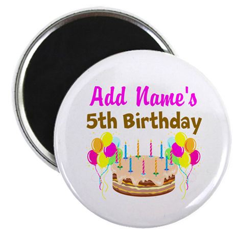 """HAPPY 5TH BIRTHDAY 2.25"""" Magnet (10 pack)"""
