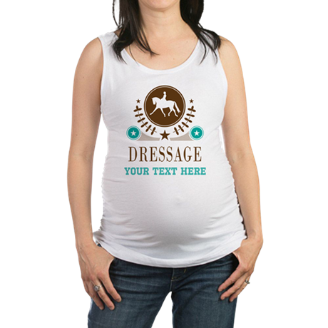 Dressage Personalized Maternity Tank Top