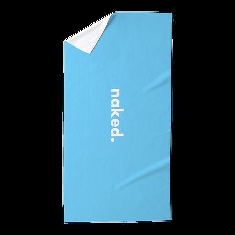 Blue Naked Beach Towel