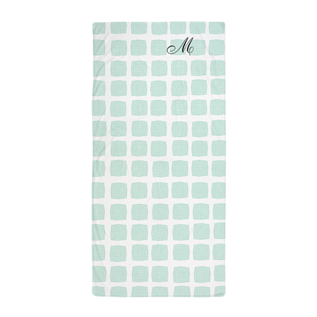 Monogrammed Mint Green Sea Pool Beach Towel