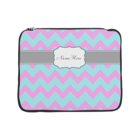 Chevron Pink Aqua 15&Quot; Laptop Sleeve