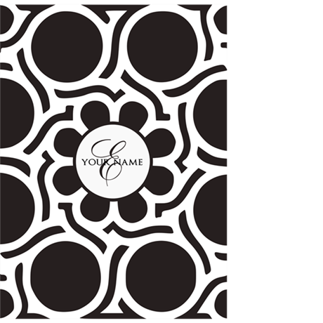 Elegant Pattern Custom Monogram iPhone 4/4S Tough