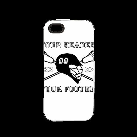 Lacrosse Team Black Alpha iPhone 5/5S Tough Case