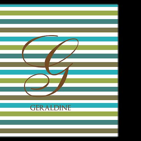 Custom Monogram Elegant Stripe Playing Cards