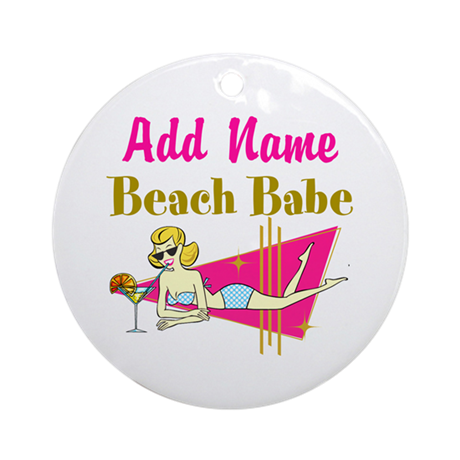 BEACH LOVER Ornament (Round)