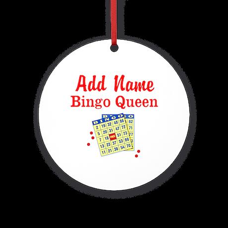 BINGO QUEEN Ornament (Round)