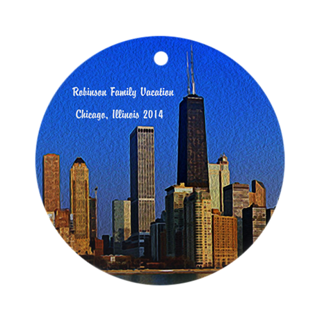 Personalized Chicago Family Ornament (round)