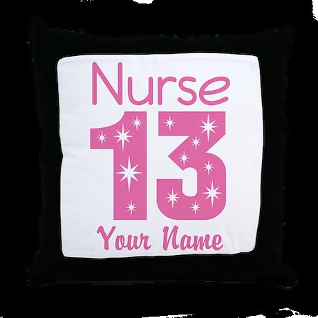 Personalized 2013 Nurse Throw Pillow