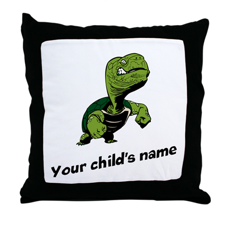 Turtle Personalized Throw Pillow