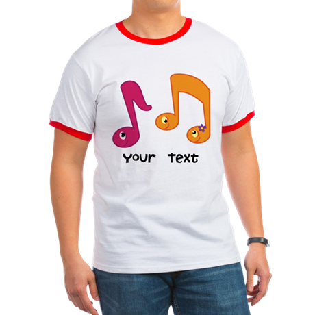 Personalized Music Notes Ringer T