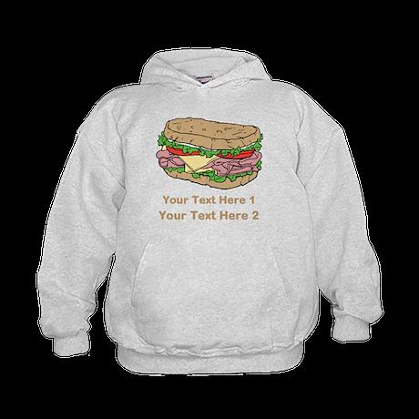 Sandwich. Custom Text. Kids Hoodie