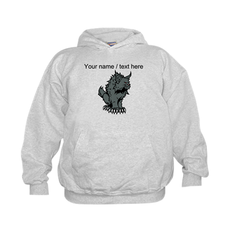Custom Grey Cat Cartoon Hoodie