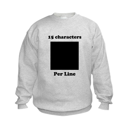 Your Picture Your Text Kids Sweatshirt