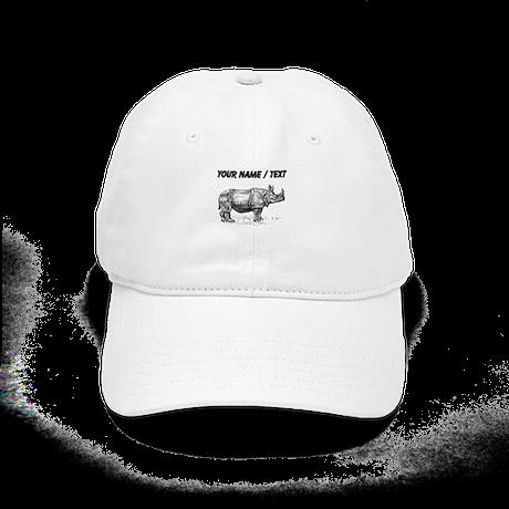 Custom Rhino Sketch Baseball Cap