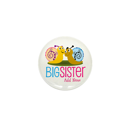 Add Name Big Sister Mini Button (10 pack)