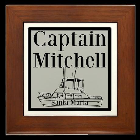 Personalized Captain Framed Tile
