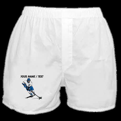 Custom Hockey Player Boxer Shorts