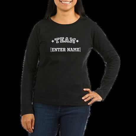 Team... Women's Long Sleeve Dark T-Shirt