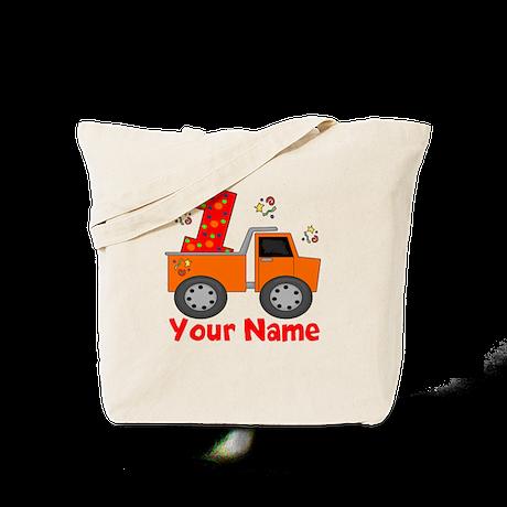 1st Birthday Dump Truck Tote Bag