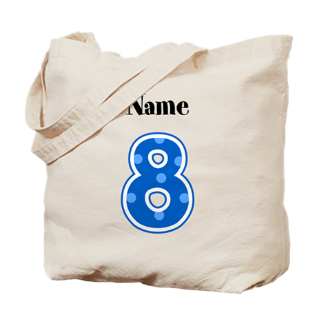 Personalized 8 Tote Bag