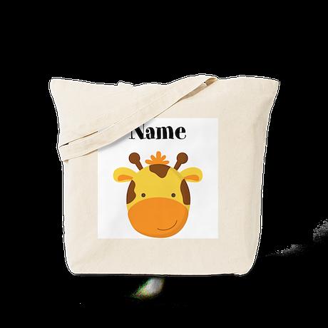 Personalized Giraffe Tote Bag